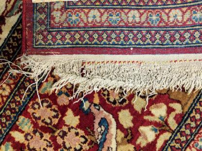 Antique Persian Tehran 4x7 Wine Ivory Area Rug