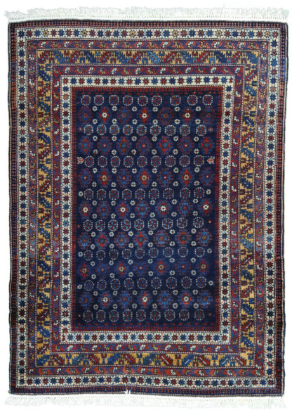 Fine Antique Shirvan 3×5 Blue Wool Area Rug