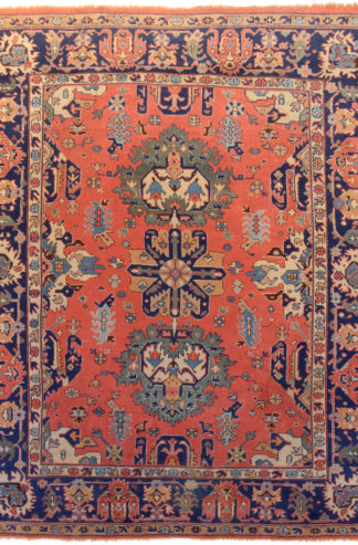 Semi-Antique Turkish Oushak 8x10 Wool Area Rug