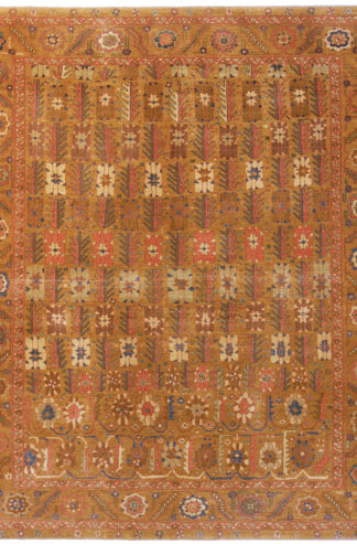 Turkish Tabriz Design 8x10 Brown Rust Area Rug