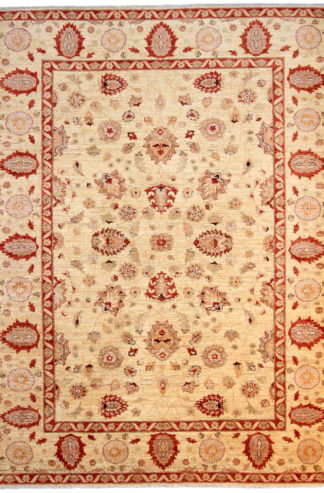 Hand Knotted Chobi 8x10 Red Beige Area Rug