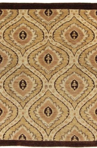 Afghan Ottoman Design 5x8 Brown Wool Area Rug