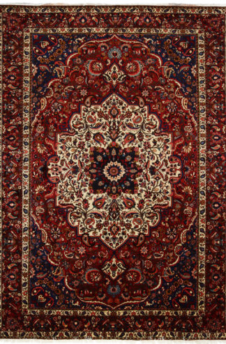 Persian Bakhtiari 9x12 Red Blue Wool Area Rug