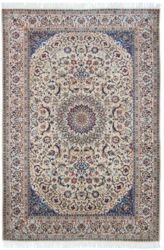 Persian Habibian Nain 6x9 Blue Red Wool Area Rug