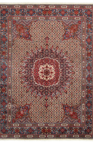 Persian Mood 7x9 Blue Red Wool Area Rug