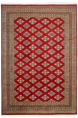 Pakistani Turkomen Design 6x9 Red Wool Area Rug