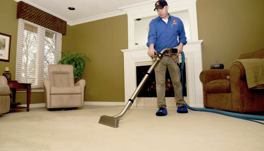 In home carpet cleaning
