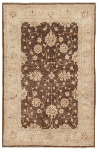 Hand Knotted Chobi 3x5 Brown Beige Wool Area Rug