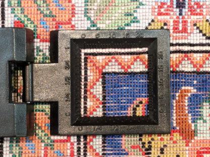 Persian Qum Silk 4x4 Red Blue Square Area Rug