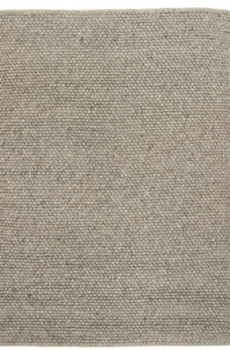 Large Knot Wool 5x8 Grey Beige Area Rug