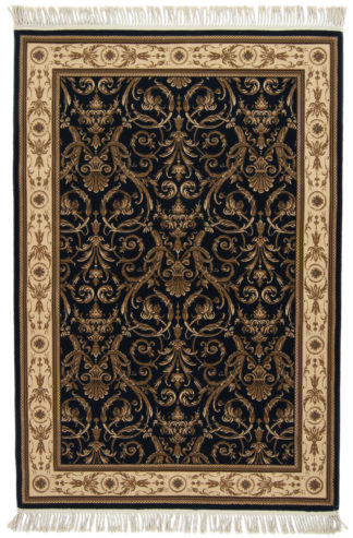 Egyptian Machine Made 5×7 Black Area Rug