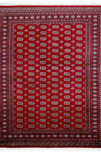 Pakistani Bokhara Design 8x10 Red Wool Area Rug