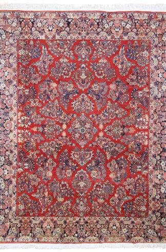 Persian Sarouk 10x12 Red Blue Area Rug
