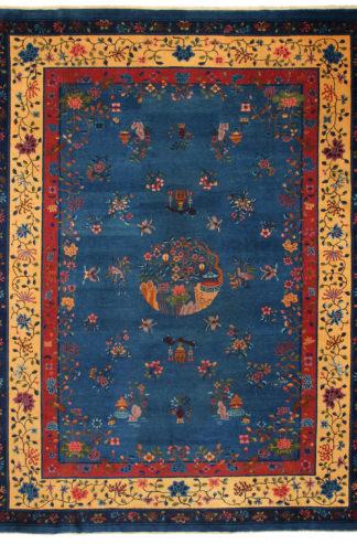 Antique Peking Wool 10x14 Blue Area Rug