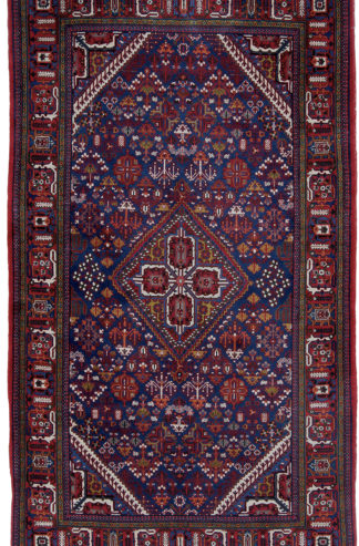 Persian Joshaghan Semi-Antique 5x9 Red Blue Wool Area Rug