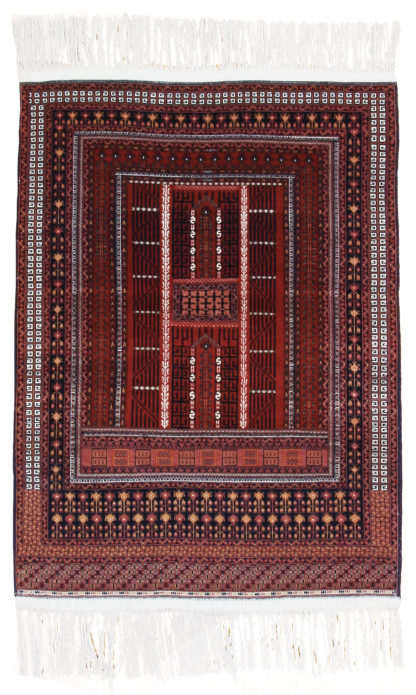 Turkmen Hachli 4x6 Red Brown Wool Area Rug