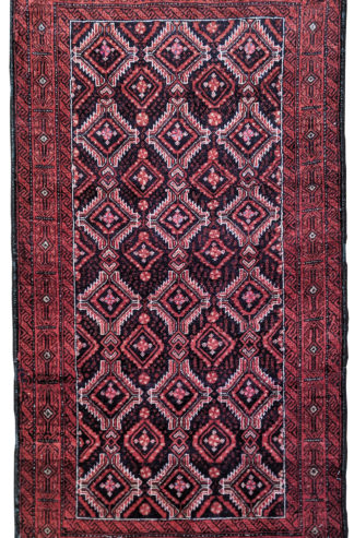 Persian Baluch 2x4 Red Blue Area Rug