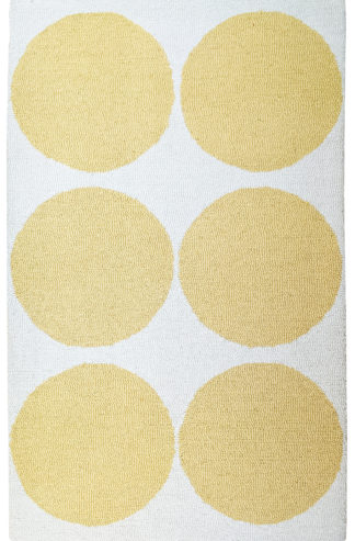 Hand Tufted Hook 3x5 Ivory Yellow Wool Area Rug