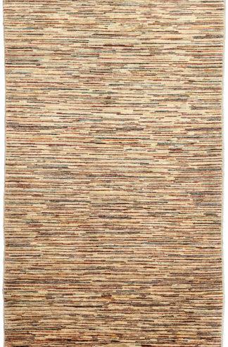 Hand Knotted Chobi Gabbeh Design 3x6 Beige Wool Area Rug