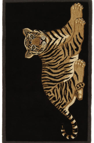 Tiger Pictorial Design Tufted 3x5 Wool Area Rug