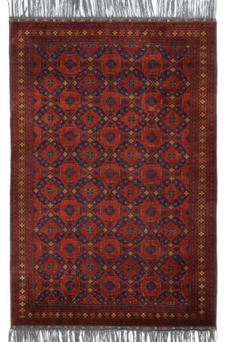 Khal Mohammadi 6x9 Red Blue Wool Area Rug