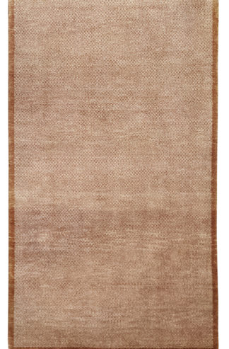 Hand Knotted Gabbeh Design 3x5 Beige Wool Area Rug
