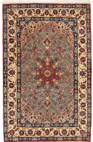 Extra Fine Isfahan 3x4 Wool Silk Area Rug