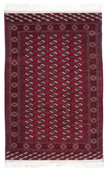 Fine Turkmen Bokhara 6x9 Red Wool Area Rug