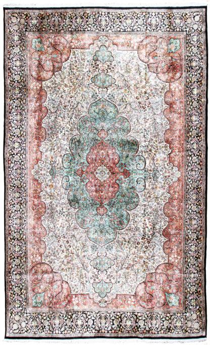 Fine Kashmiri Art Silk 11x18 Oversize Area Rug