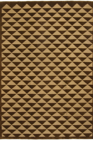 Hand Knotted Nepal 6x9 Brown Wool Area Rug