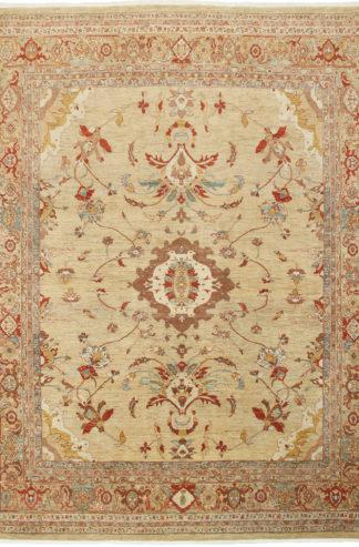 Persian Tabriz 9x12 Beige Wool Area Rug