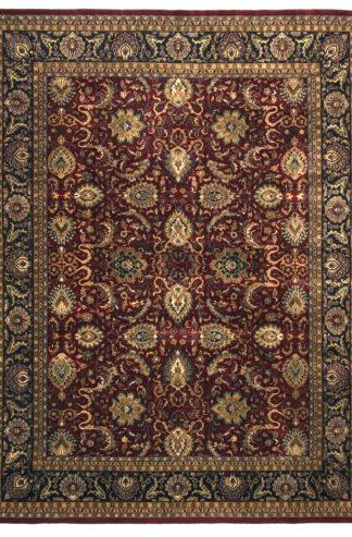 Fine Hand Knotted Jaipur 9x12 Burgundy Area Rug