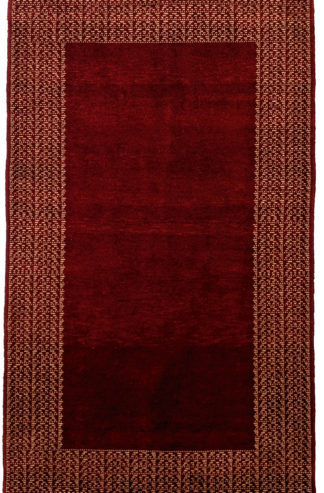 Hand Knotted Gabbeh Design 3x5 Red Wool Area Rug