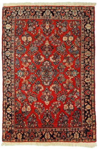 Fine Persian Sarouk 3x5 Red Wool Area Rug