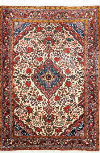 Fine Persian Jozan 3x5 Red Ivory Wool Area Rug