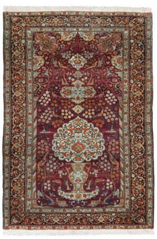Persian Isfahan Ahmad Antique 4x6 Wool Area Rug