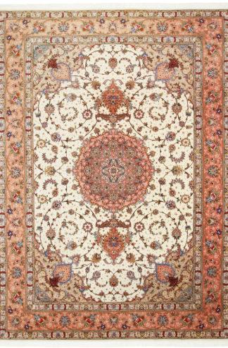 Persian Naghshe Tabris Wool Silk 8x12 Area Rug