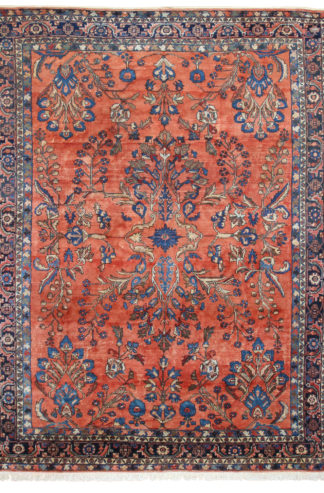 Persian Lilihan 9x12 Rose Wool Area Rug