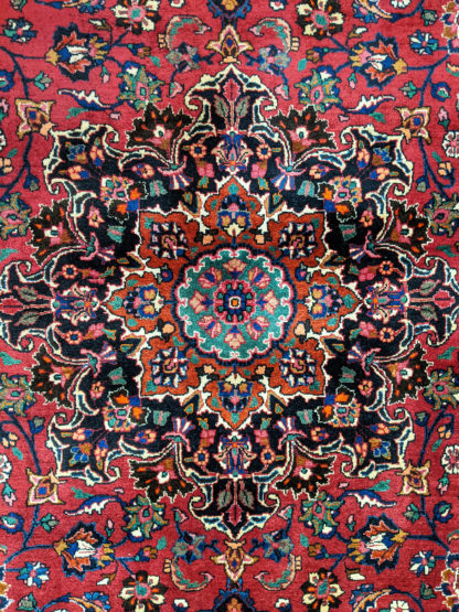 Persian Mashad 10x11 Red Blue Wool Area Rug