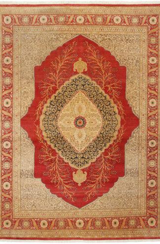 Fine Tabriz Design Pakistan 9x12 Wool Area Rug