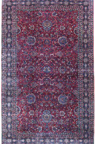 Fine Semi-Antique Persian Kerman 9x15 Red Area Rug