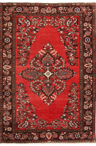 Persian Hamadan 5x8 Red Wool Area Rug
