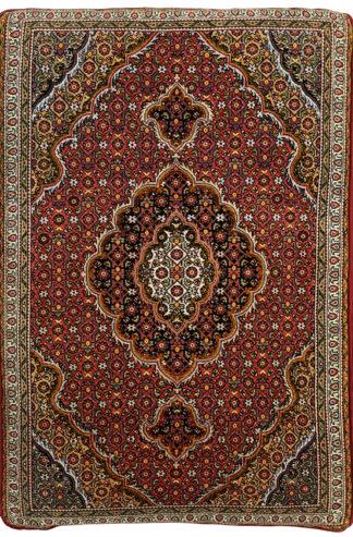 Tabriz Mahi 2x3 Red Wool Cushion