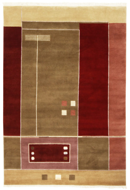 Contemporary Hand Knotted 6x8 Wool Area Rug