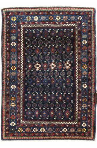 Fine Antique Shirvan 3x4 Blue Wool Area Rug