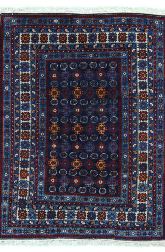 Fine Antique Shirvan 4x5 Blue Wool Area Rug