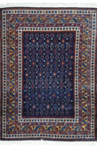Fine Antique Shirvan 3×5 Blue Wool Area Rug