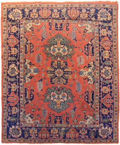 Semi-Antique Turkish Oushak 8x10 Wool Area Rug