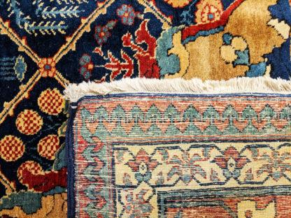 Oversize Persian Tabriz 13x16 Blue Wool Area Rug