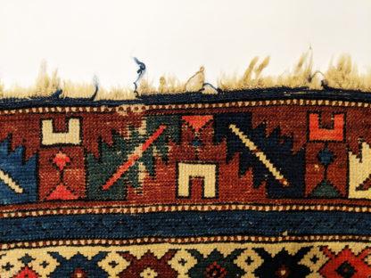 Antique Shirvan 4x6 Blue Wool Area Rug
